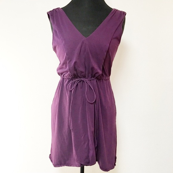 28000996abf7 Anthropologie Dresses   Mermaid Purple Cotton Vneck Dress   Poshmark